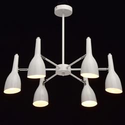 Nowoczesna lampa wisząca na 6 żarówek, biała w stylu futurystycznym demarkt 545012506