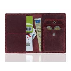 Super cienki portfel na karty i monety slim wallet brodrene sw01+ czerwony