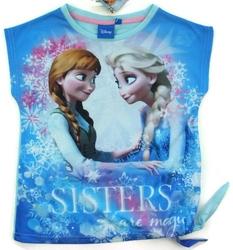 Koszulka frozen sisters are magic niebieska 5 lat