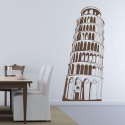 Szablon malarski krzywa wieża w pizie 0834