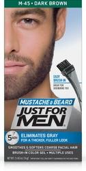 Just for men m-45 ciemny średni brąz - odsiwiający żel do brody i wąsów