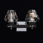 Kinkiet loft na 2 żarówki, czarny, szklane klosze regenbogen loft 104022302
