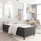 Vidaxl rama łóżka, szara, tapicerowana tkaniną, 90 x 200 cm