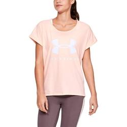 Koszulka damska under armour graphic sportstyle fashion ssc - pomarańczowy