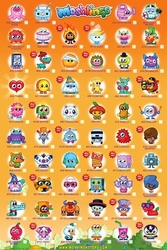 Moshi monsters tick chart 2 - plakat