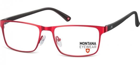 Oprawki prostokątne optyczne montana mm610g czerwone