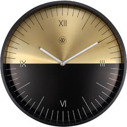 Zegar ścienny Half złoto-czarny nXt 30 cm 7335