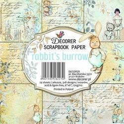 Papiery do scrapbookingu Rabbits burrow 15,2x15,2cm24szt.
