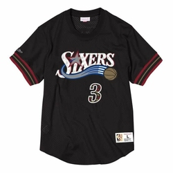 Koszulka Mitchell  Ness NBA Philadelphia 76ers Allen Iverson Name  Number Mesh - NNMPMG18062-P76BLCK01AIV - Allen Iverson