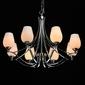Chromowany żyrandol do salonu z białymi kloszami palermo chiaro elegance 386016408