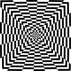 Obraz na płótnie canvas czteroczęściowy tetraptyk iluzja