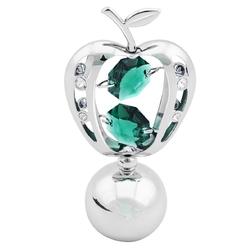 Figurka jabłko swarovski zielone kryształy dedykacja