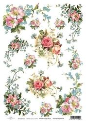 Papier ryżowy ITD A4 R421 róże