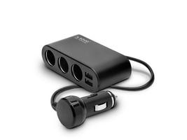 Elmak Rozdzielacz zapalniczki z 2x gniazdem USB Savio 1224V SA024