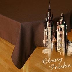 Obrus polski ciemny brąz greno 150 x 300