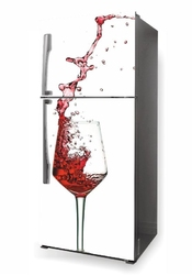 Foto naklejka na lodówkę kieliszek wina p611