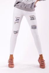 Spodnie -biały 46002-1