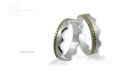 Obrączki srebrne - wzór ag-084