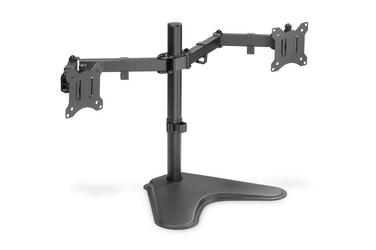 Digitus stojak biurkowy podwójny z zaciskiem 2xlcd max. 32 max. obciążenie 2x 8kg uchylno-obrotowy czarny
