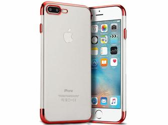 Etui Alogy luxury iPhone 78 Plus błyszczące czerwone +Szkło - Czerwony