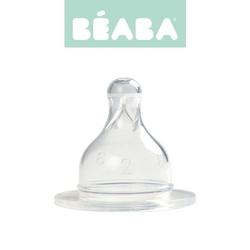 Zestaw smoczków do butelek szerokootworowych beaba - szybki przepływ 18m+