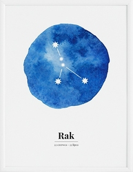 Plakat Zodiak Rak 21 x 30 cm