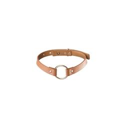 Sexshop - maze single chocker brązowy - obroża bijoux indiscrets - online