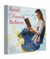 Beauty And The Beast Movie Read Dream Believe - obraz na płótnie