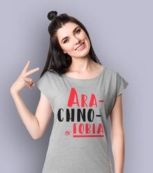 Arachnofobia t-shirt damski jasny melanż l