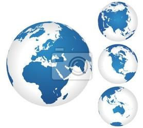 Fototapeta globes