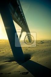 Fototapeta ouvrage dart sur la plage