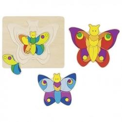 Układanka warstwowa kolorowe motylki