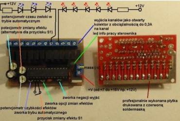 Sterownik LED  - niesamowite dynamiczne efekty wizualne diod LED