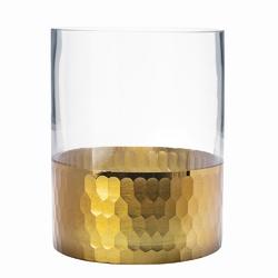 Świecznik szklany  wazon altom design golden honey 15 cm