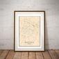 Padwa, włochy mapa kolorowa - plakat wymiar do wyboru: 61x91,5 cm