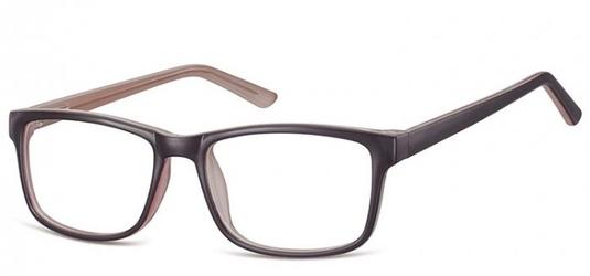 Okulary zerówki klasyczne oprawki sunoptic cp155d czarno-szare