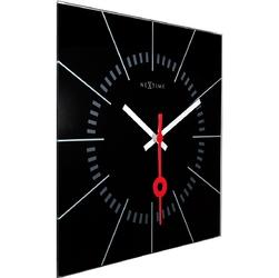 Zegar ścienny nextime stazione 35 x 35 cm, czarny 8636 zw