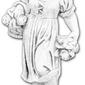Figura ogrodowa betonowa dziewczynka z bukietami 75cm