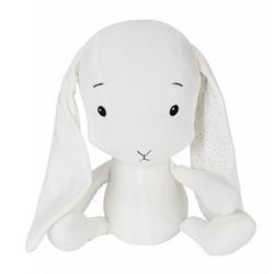 Effiki królik effik biały, uszy w kropki s 20 cm - by małgosia socha