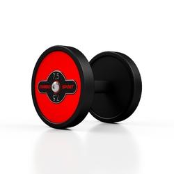 Hantla stalowa gumowana 7,5 kg czerwony połysk - marbo sport