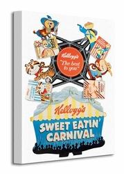 Vintage Kelloggs Sweet Eatin Carnival - Obraz na płótnie