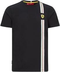 Koszulka scuderia ferrari f1 italian flag czarna - czarny