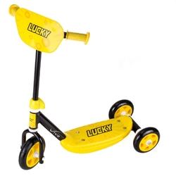 Hulajnoga vivo 3-kołowa 140-125mm czarno-żółta