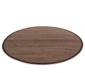 Mata bambusowa okrągła, dywanik bambusowy  śr.120 cm ciemny brąz