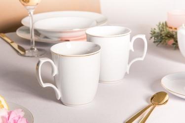 Zestaw kubków porcelana mariapaula złota linia, komplet 2 szt. 360 ml opakowanie prezentowe