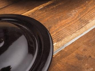 Pokrywka emaliowana 14 cm brązowa