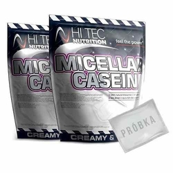 Hi-tec micellar casein - 2 x 1000g + próbka gratis