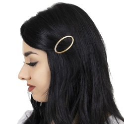 Spinka do włosów klamra owal złota minimalizm - złota