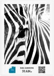 Biała rama aluminiowa 59,4x84 cm