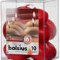 Bolsius, czerwona, świeca pływająca, 10 sztuk